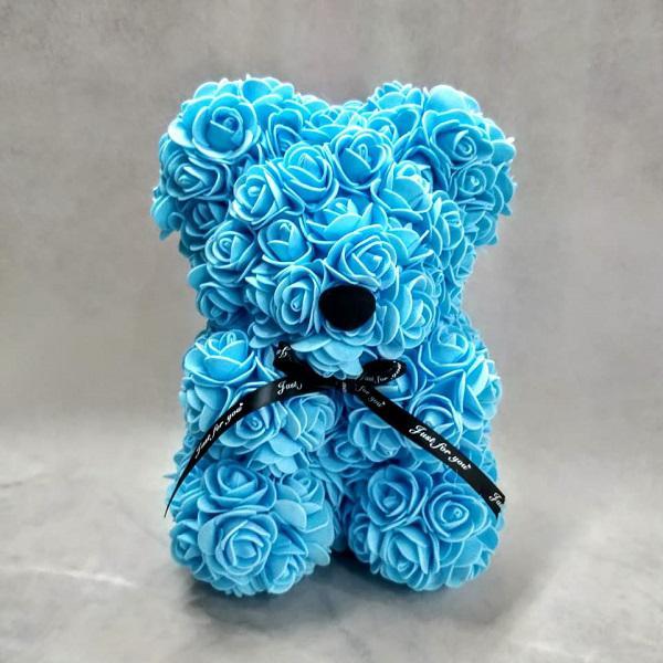 rose bear light blue medium