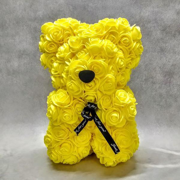rose bear yellow medium